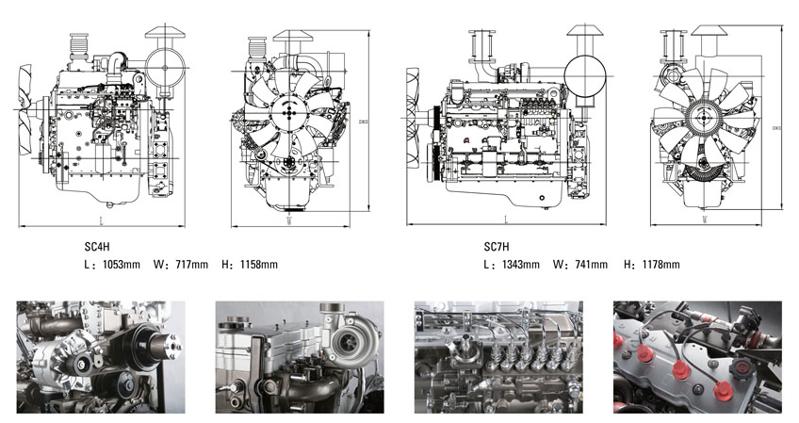 上柴H系列柴油发电机组外形尺寸安装图